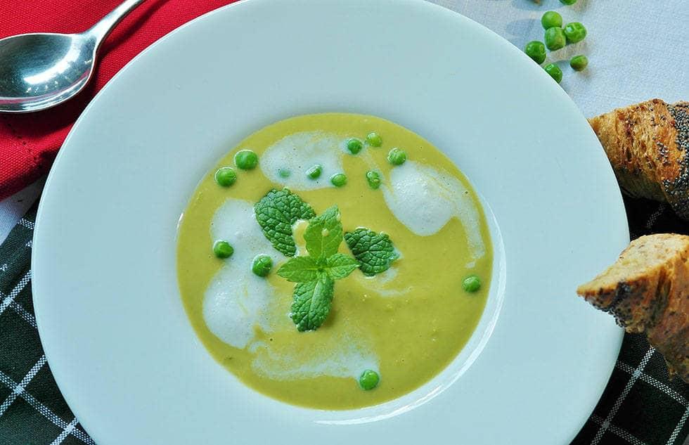 Крем суп с плавленым сыром