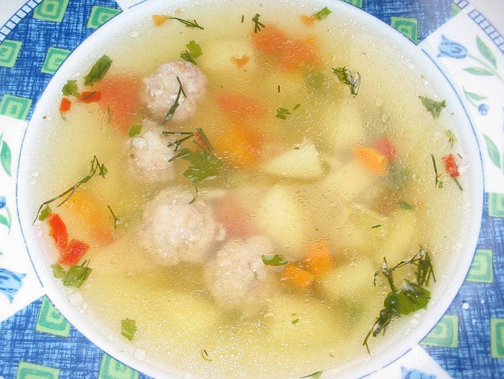Суп грибной - с фрикадельками
