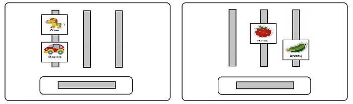 Различение карточек PECS