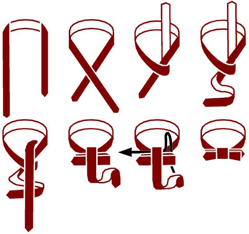 Инструкция как завязать галстук бабочку
