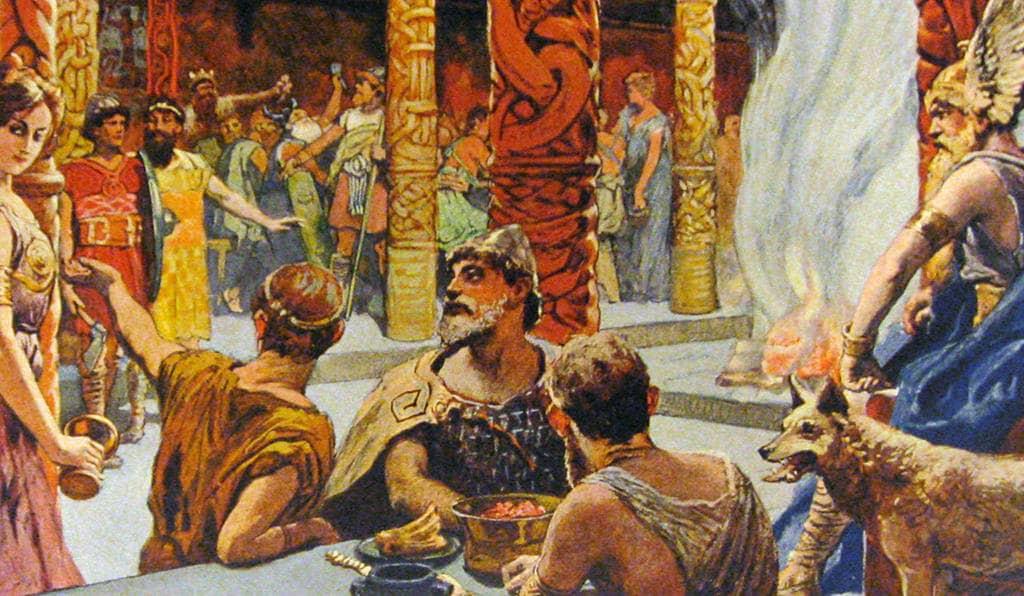 Восседать за одним столом с Богом Одином