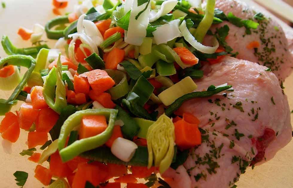 Куриная грудка в салате