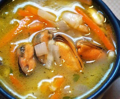 Суп с рыбой и овощами