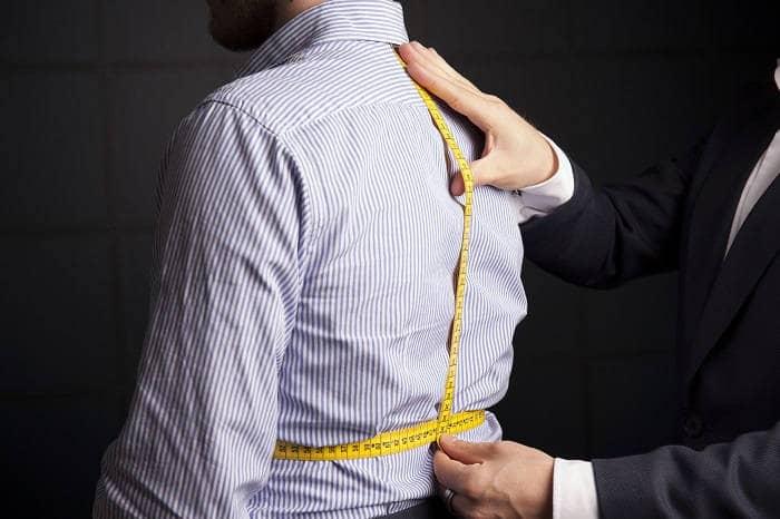 Как замерить спинку рубашки