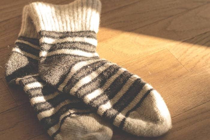 Вид вязаных носок
