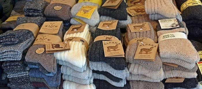 Носки из материала шерсть