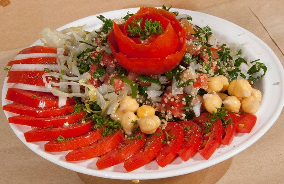 Салат с помидорами для постного поста